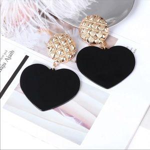 xxx Jewelry - Statement Heart Charm Earrings